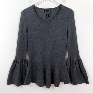 Nanette Lepore Merino Wool Bell Sleeve Sweater M